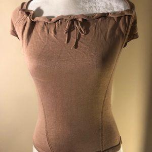 Max Studio fitted 100% Silk sweater